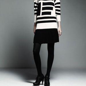 Catherine Malandrino Black Pleated Skirt Small $50